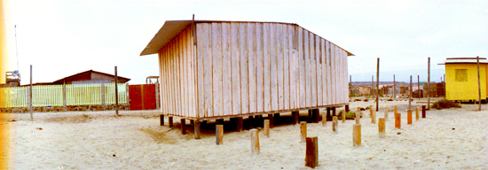 06典型的な杭を持つ小屋